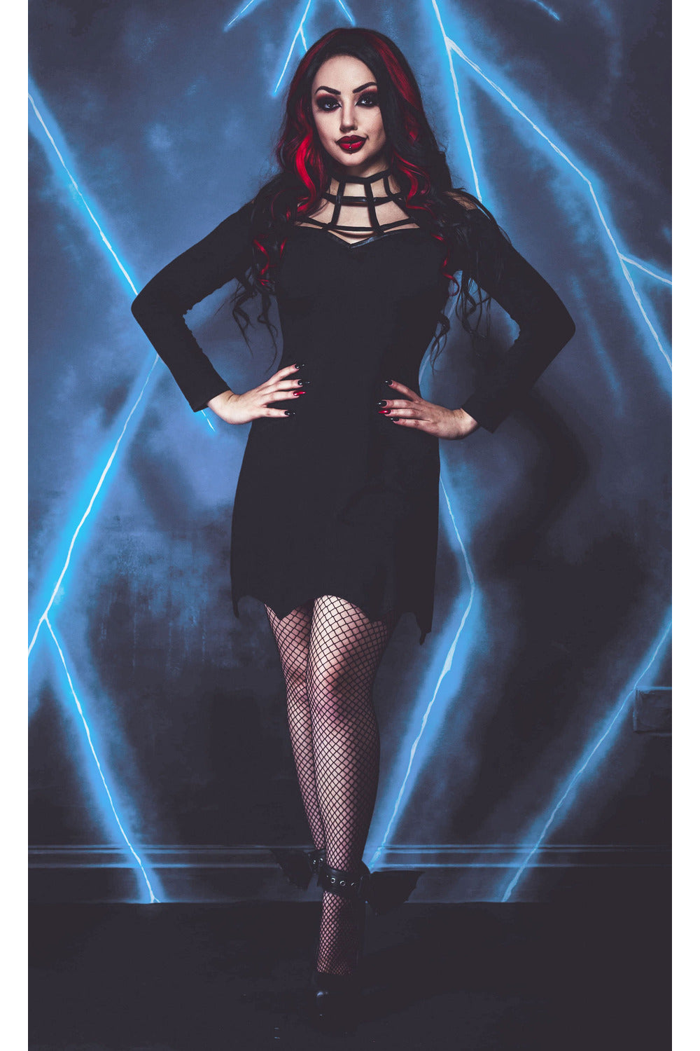 Spiderweb Mini Dress - High Voltage Clothing & Accessories Ltd