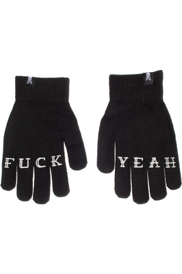 Fuck Yeah Knit Gloves - High Voltage Clothing & Accessories Ltd