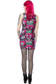 Pink Fink Tank Dress - High Voltage Clothing & Accessories Ltd
