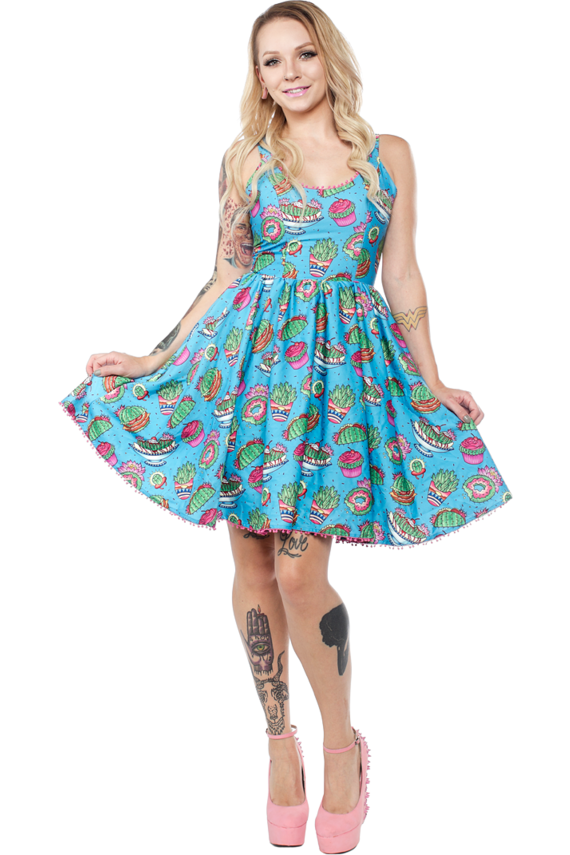 Prickly Delights Dress - High Voltage Clothing & Accessories Ltd