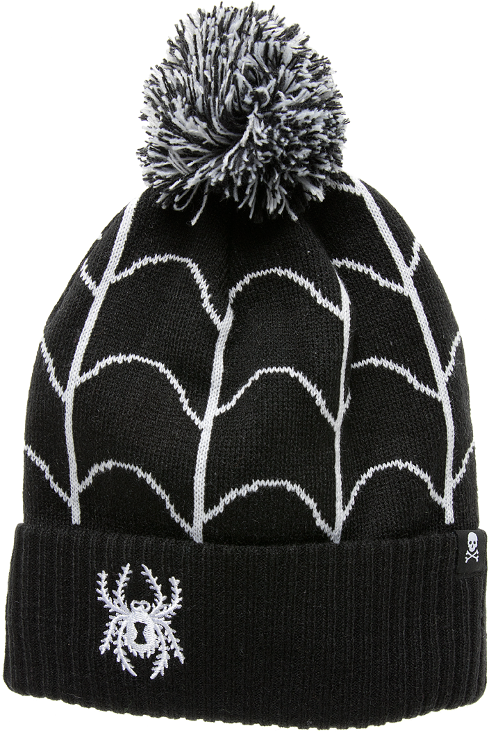 Spider Web Beanie - High Voltage Clothing & Accessories Ltd