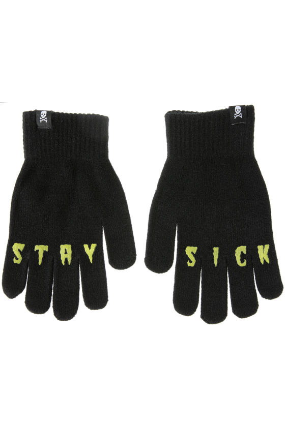 Stay Sick Knit Gloves - High Voltage Clothing & Accessories Ltd