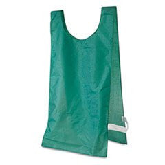 ** Heavyweight Pinnies, Nylon, One Size, Green, 1 Dozen **