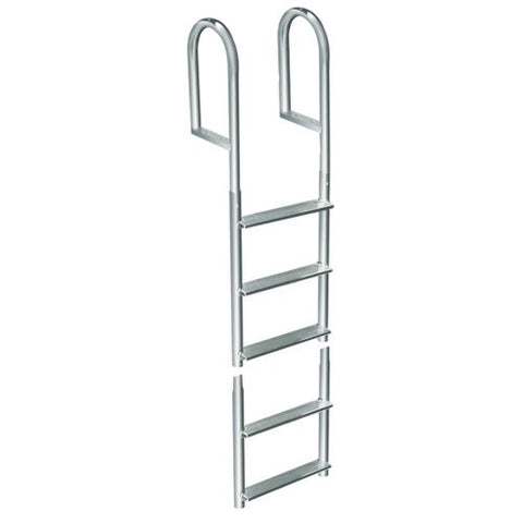 1 - Dock Edge Welded Aluminum Fixed 5 Step Ladder