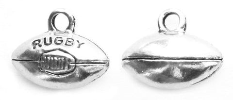 """Rugby Ball"" 3D Rugby Charm - 3 Pack"