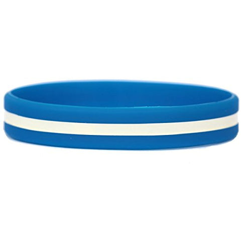 1 BLUE WRISTBAND with Thin White Line for Emergency Medical Services
