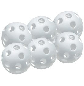 "(6-Pack) Easton 9"" Baseball Sized Wiffle Training Ball (Soft Toss, Coach Pitch, Batting Tees)"