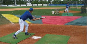 (Price/Each)White Line Equipment Bunt Zone Infield Protector & Trainer - Little League/Softball