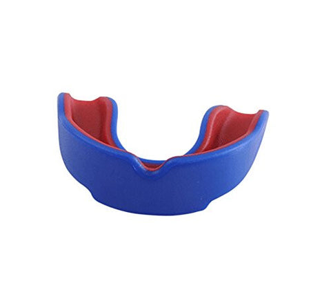 1 Pcs Adult Professional Taekwondo Boxing Sports Mouth Guards, BLUE RED