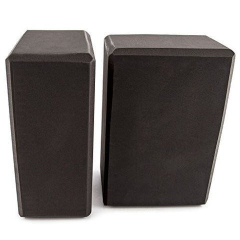 1 Pack Exercise Yoga Blocks, Black, Large Size, 9 x 6 x 4 Inch