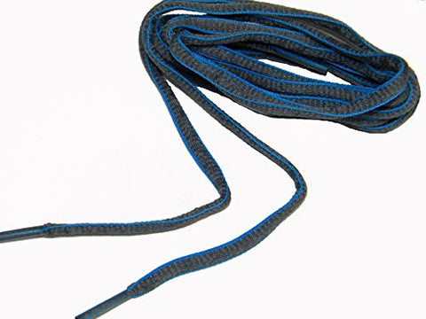 36 Inch Grey w/ Blue proATHLETIC (TM) Oval sneaker Laces Shoelaces (2 pair pack)
