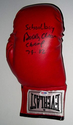 'SCHOOLBOY' BOBBY CHACON Signed LEATHER Everlast Boxing Glove HOF Great! - PSA/DNA Certified - Autographed Boxing Gloves