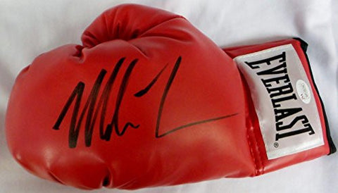 (100) Mike Tyson Signed Autographed Red Boxing Gloves Authenticated Left - JSA Certified - Autographed Boxing Gloves