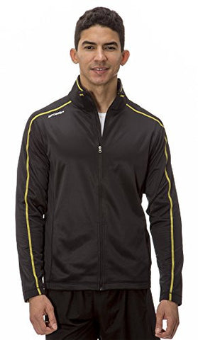 (AL003) AeroskinDry Mens Active Lifestyle Jacket in Black / Yellow Size: 3XL
