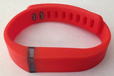 ! Replacement Wrist Band for Fitbit Flex with Clasp + 1pc Free Real Grey Band (Real Red, Large)