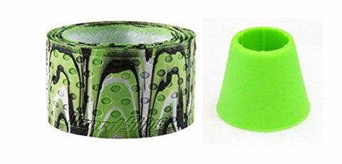 0.5 Lizard Skins Bat Baseball & Softball Bat Drip with Green Knob Cuff Ez Taper (Lime Camo)