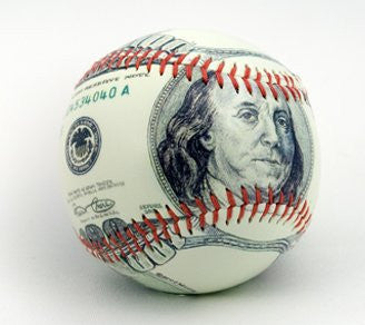 $100 Dollar Bill Baseball