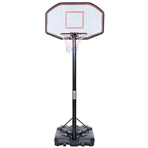 10FT 42''x28'' Backboard In/Outdoor Adjustable Height Basketball Hoop System