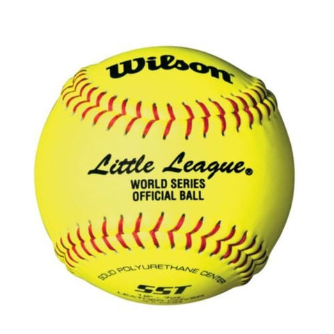 "(1 Ball) 12"" Wilson Official Little League Yellow Softball (Official Ball of the Little League World Series) SST/9074"