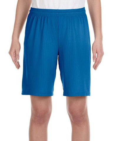 """Alo Sport Youth Mesh 9"""" Short - SPORT ROYAL - L"""
