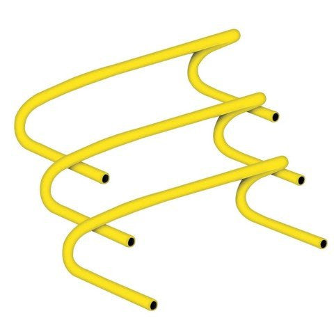 Champion Sports CHA138 6 in. Speed Hurdle Made of Lightweight Plastic44; Yellow