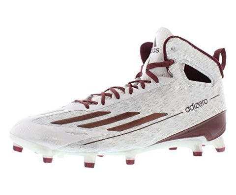Adidas ADIZERO 5 STAR 4.0 MID FB Mens Football Shoes Size US 12, Regular Width, Color White/Maroon