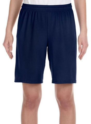 """Alo Sport Youth Mesh 9"""" Short - SPORT NAVY - L"""