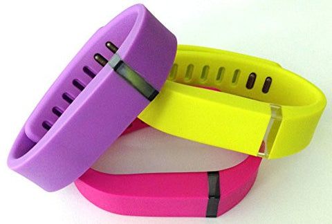 ! Small S 1pc Violet 1pc Purple / Pink 1pc Yellow Replacement Bands + 1pc Free Small Grey Band With Clasp for Fitbit FLEX Only /No tracker/ Wireless Activity Bracelet Sport Wristband Fit Bit Flex Bracelet Sport Arm Band Armband