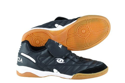 ACACIA Classic Indoor Soccer Shoes, Black/White, 11.5