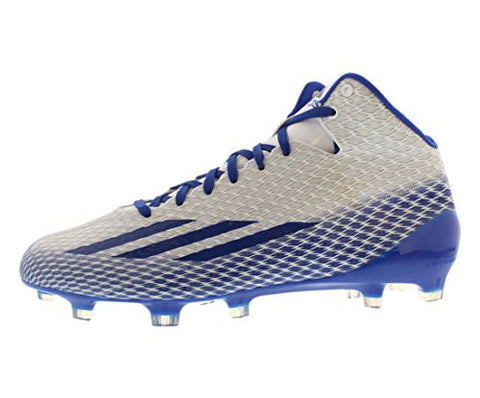 Adidas Adizero 5 Star 3.0 Mid Mens Football Cleats 8.5 White-Royal-Platinum
