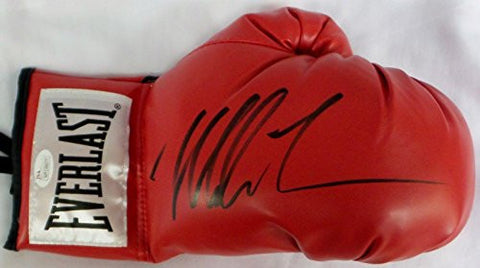 (100) Mike Tyson Signed Autographed Red Boxing Gloves Authenticated Right - JSA Certified - Autographed Boxing Gloves
