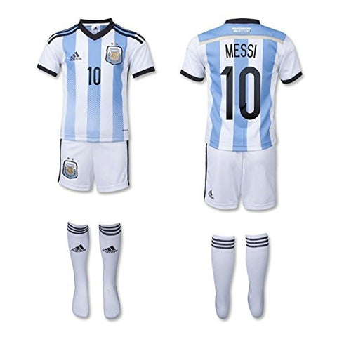 (Messi 10) Argentina World Cup Home Mini Kit 2014-15 (4T)