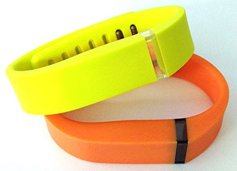 ! Small S 1pc Yellow 1pc Orange Replacement Bands + 1pc Free Small Grey Band With Clasp for Fitbit FLEX Only /No tracker/ Wireless Activity Bracelet Sport Wristband Fit Bit Flex Bracelet Sport Arm Band Armband
