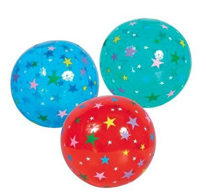 "(12) 16"" Star Beach Ball Inflates ~ A GREAT CONSTELLATION PRIZE ~"