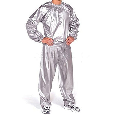 1 Sets of PVC Sauna Suit / Outdoor Exercise to Lose Weight Sweat Suit (XXL Code)
