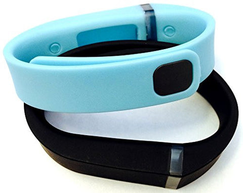 ! Small S 1pc Light Blue 1pc Black Replacement Bands + 1pc Free Small Grey Band With Clasp for Fitbit FLEX Only /No tracker/ Wireless Activity Bracelet Sport Wristband Fit Bit Flex Bracelet Sport Arm Band Armband
