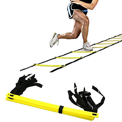 2013Newestseller 5-Rung Agility Ladder For Soccer Speed Football Fitness Feet Training New