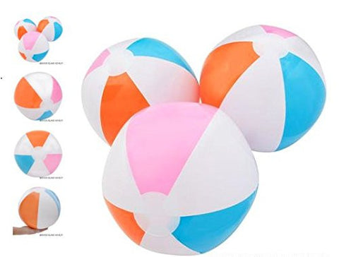 "(12) 16"" Multicolored Beach Ball Inflates ~ A SURE SUMMER HIT ~"