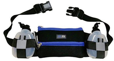 ? 2017 Hydration Running Belt ? Bonus Accessories ~ Fits iPhone 6 Plus w/ Otterbox ~ with 2 BPA Free Water Bottles ~ Waterproof Treadmill Pack by JD Fit