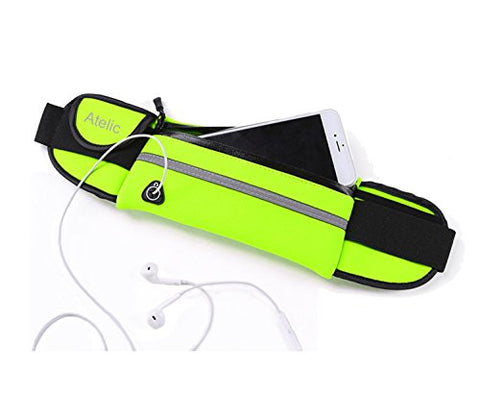 #1 TOP RATED RUNNING BAG, Atelic® Waist Pack Running Bag Runner Belt Pouch Girl Boy Water Resistant Reflective - Outdoor Cycling Running Hiking Trip Pack Fitness Gym