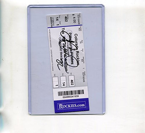 * ANDREW McCUTCHEON * Pittsburgh Pirates signed Rockies vs Pirates 4/26/26 ticket stub - UACC RD # 212
