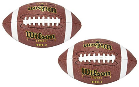 (2) Wilson WTF1713 TDJ Junior Game Footballs