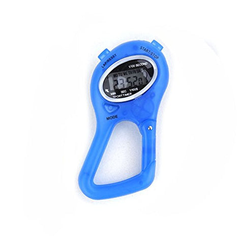 "(Price/400 PCS) GOGO Stop Watch with Carabiner - BLUE, 3 1/2"" L x 2/3"" W - Blue"