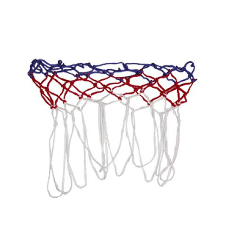 2 Pcs White Red Blue Nylon Braided All-Weather Basketball Net