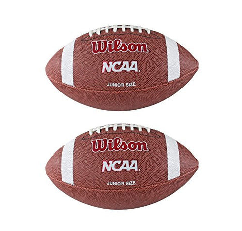 (2) WILSON NCAA Red Zone Junior Size Composite Leather Footballs | WTF1571ID
