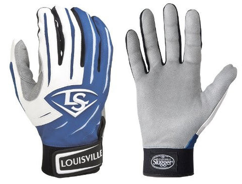 1 pr Louisville Slugger BGS714 Adult X-Small Royal Blue Series 7 Batting Gloves