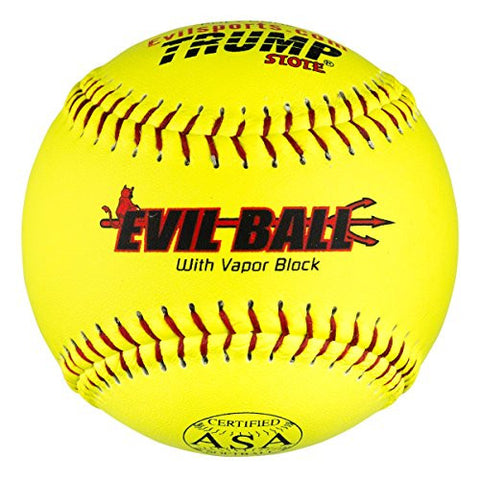 "1 Dozen Evil Ball ASA 12"" Softballs - 44cor/.375 Compression (MP-EVIL-ASA-Y-2) HOT Technology"