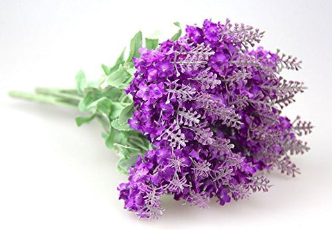 1 Bouquet(10 Heads) Artificial Lavender Silk Flower Home Wedding Garden Floral Decor DIY