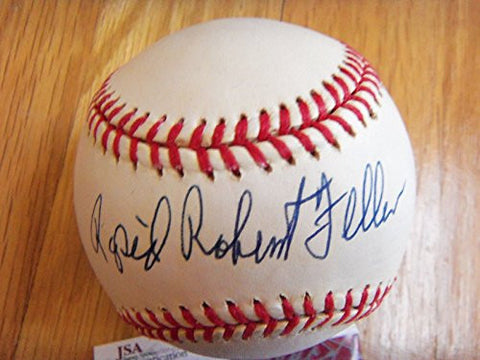 (Bob Feller) RAPID ROBERT FELLER Signed AL Baseball -JSA Authenticated #D25505
