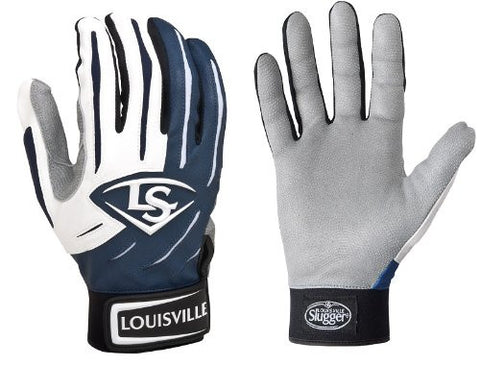 1 pr Louisville Slugger BGS714 Adult X-Small Navy Blue Series 7 Batting Gloves